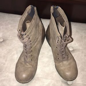 Distressed Madden Girl combat boots